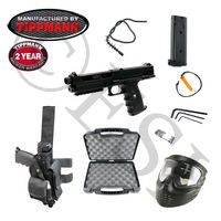 Tippmann TiPX Paintball Marker (Black) Kit with Genuine Tippmann Accessories