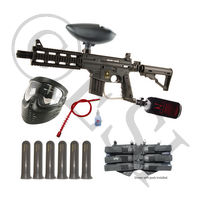 US Army Project Salvo Paintball Gun - Black Mega Set HPA