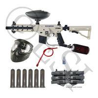 US Army Project Salvo Paintball Gun - Black and Tan Mega Set HPA