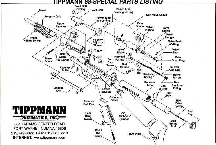 tippmann 68 special paintball gun repair parts rh tippmannparts com paintball marker parts diagram Viewloader Paintball Gun Diagram
