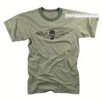 Vintage Slub Tshirt Skull Wing