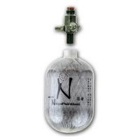 4500psi Grey Ghost HPA Bottle / Tank - 77ci - with Ninja Ultralite Regulator