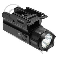 Pistol & Rifle LED Flashlight with Quick Release Weaver Mount