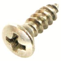 Screw - Phillips - Oval Head - Stainless Steel - 3/8 Inch