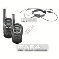 2 Way Radio Set w/ Throat Mics