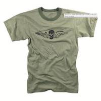 Vintage Slub Tshirt Skull Wing