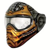 Tagged Series Hand Painted 'Get Over Here' Tactical Paintball Goggles