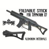 Foldable Tippmann X7 Phenom Stock with Aluminum Hinge