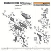 Tippmann X7 Phenom Gun Mechanical  V101018 Diagram