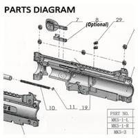 Tacamo Magazine Kit MK5 - A5 Gun Diagram