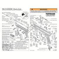 Tippmann 98 Custom Gun 071029 - Pull Style Sear Diagram
