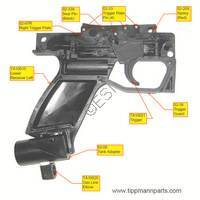 Tippmann X7 Gun PL Grip Frame Assembly Diagram