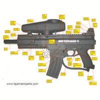 Tippmann X7 PL Gun Left Side Diagram