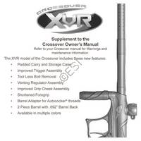 Tippmann Crossover XVR Supplement Manual Manual