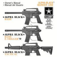 US Army Alpha Black  with Manual