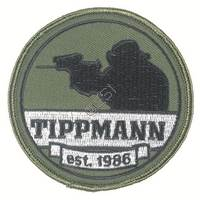 'Tippmann est 1986' Circular Patch with Velcro Backing