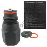 Soda Stream Bottle to Paintball ReFill Station Adapter