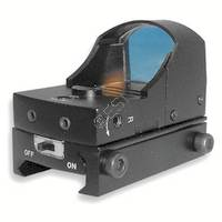 Compact Tactical Dot Reflex Sight with Weaver Mount