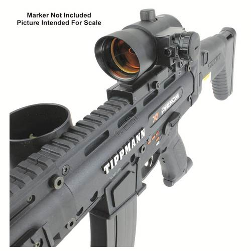This style of sight is often referred to as a 'Red Dot Sight' and most of them do use a red dot but some are green or can even be switched back and forth between the two colors depending on your preference. A dot sight is a non-magnifying reflector sight used for firearms, paintball.