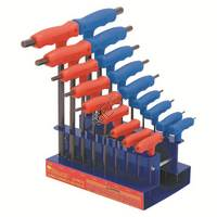 18pc T-Handle Inch Ball Point Hex Key Set