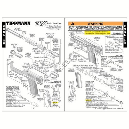 tippmann tpx gun diagram