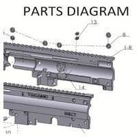 Tacamo Magazine Kit MK7 - X7 Gun Diagram