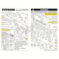 Tippmann 98 Custom Platinum Series Non-ACT Ultra Basic Gun Diagram