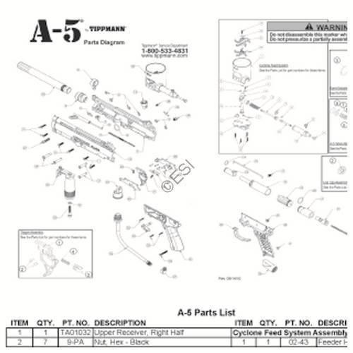 Excellent Tippmann A 5 Basic 2011 Gun Diagram Wiring Digital Resources Instshebarightsorg