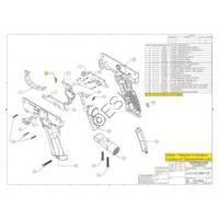 Tippmann A-5 H E-GRIP (Grip Only)  V090218 Diagram
