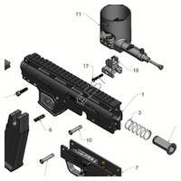 Tippmann X7 Phenom Gun Exploded  V3 Diagram