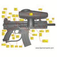 Tippmann X7 Gun Photographic Large Diagram