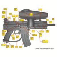 Tippmann X7 Gun PL Right Side Diagram