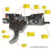 Tippmann X7 Gun PL Trigger Assembly Diagram