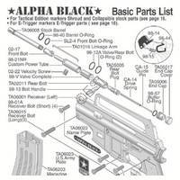 US Army Alpha Black Gun Diagram