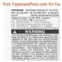Tippmann 98 Custom Gun Response Trigger Install Manual