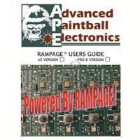 Tippmann 98 Custom Pro E APE Rampage Board V1 Manual