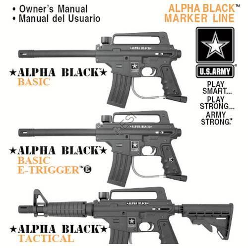 US Army Alpha Black Gun Manual